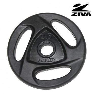 Disco encauchetado 2.5kg ZIVA Negro