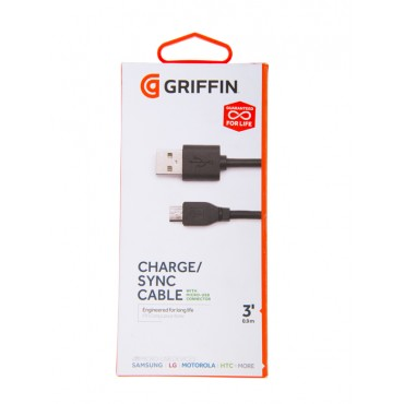 Cable GRIFFIN USB / Micro USB - 1M - Negro