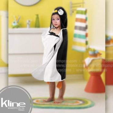 Toalla infantil K-LINE Pingüino