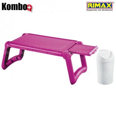 KOMBO RIMAX: Mesa Laptop Violeta +Papelera 1.5L