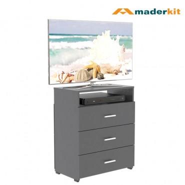 Cómoda TV MADERKIT Matrix 3 Cajones 01032-CO-N-R