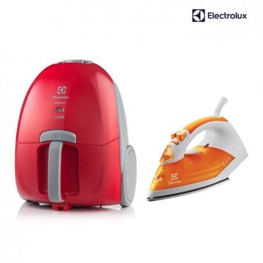 Kombo ELECTROLUX Aspiradora Nano + Plancha de Ropa Arezza Naranja