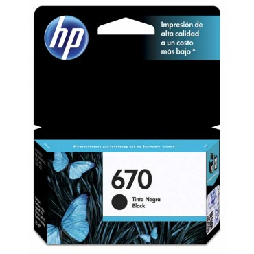 Cartucho HP 670 Black Ink