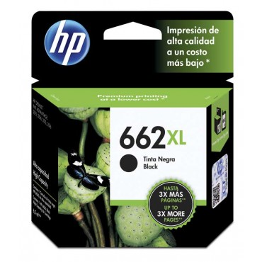 Cartucho HP 662XL Black