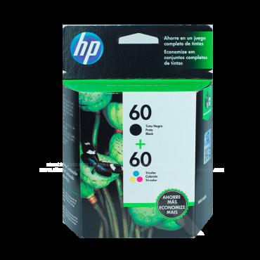 Tinta TwinPack HP 60 Negro + Tricolor