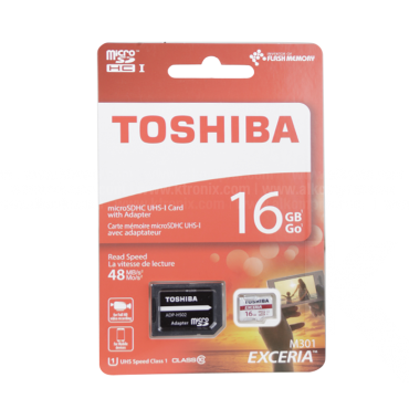 Memoria TOSHIBA Micro SD 16GB + Adaptador Cl10