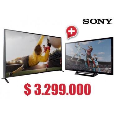 """Compra Tv 60"""" 152.5 cm LED SONY 60W857 Internet 3D y  lleva gratis Tv 32"""" 80 cm LED SONY 32R427B HD"""