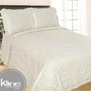 Cubrecama K-LINE King Crema Microfibra
