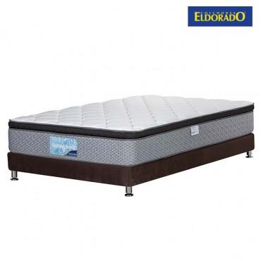 KOMBO ELDORADO: Colchón Semidoble Golden Royal 120x190x30 cm + Base Cama Nova  Negra 120x190