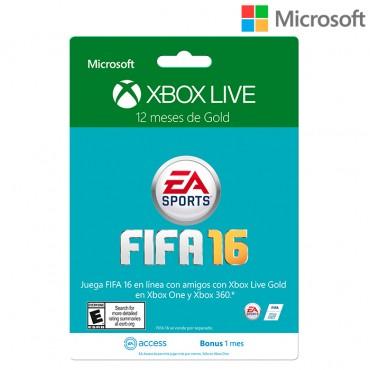 Tarjeta XBOX LIVE 12 meses Brandeada FIFA 16