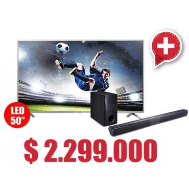 Compra Tv 50 127 cm LED LG 50LB650 Full HD 3D Internet y lleva gratis Sound Bar 120W LG NB2540