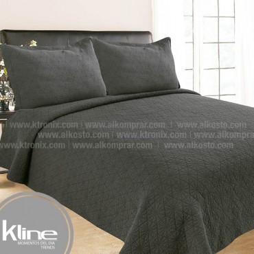 Cubrecama K-LINE Sencillo Lavare Gris