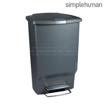 Basurero Plástico SIMPLE HUMAN Gris 45 Lt