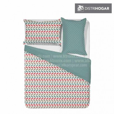 Comforter DISTRIHOGAR Estampado Extradoble PALET BLUE