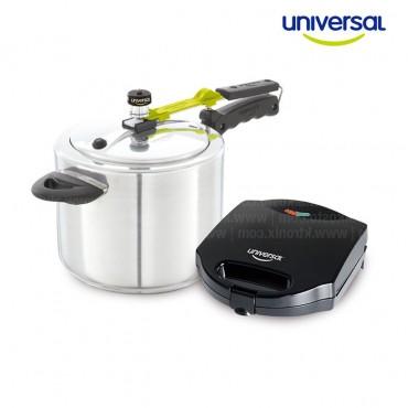 KOMBO UNIVERSAL: Olla presión Universal 7 Litros + Sanduchera