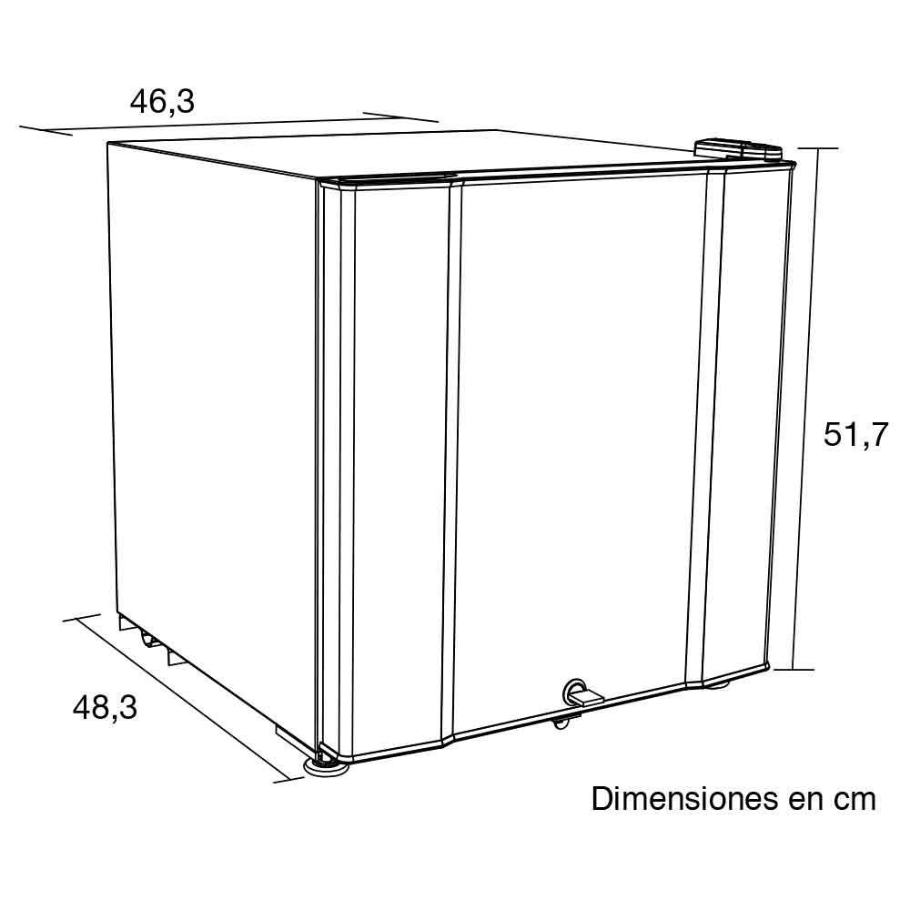 Minibar challenger 50 5lts cr 077 gris - Barras de minibar ...
