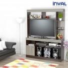 Centro de Video y Sonido INVAL CVS12602 Wengue/Humo