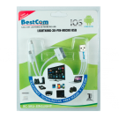Cable BESTCOM USB/Lighthin/30pi/MicrUSB