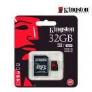 Memoria Micro SD KINGSTON 32GB + Adaptador C10