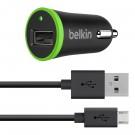 Cargador BELKIN para Carro Micro USB 2.1 - Negro