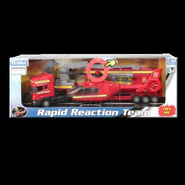Camión Con Helicóptero Rescate Rapid Reaction Team (Juguetes)