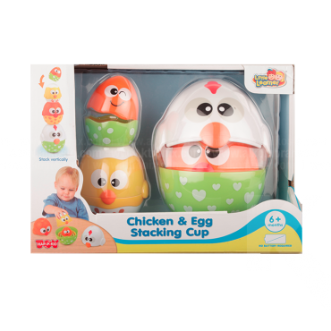 Juguete Chicken & Egg Stacking Cup