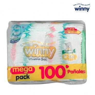 Pañal WINNY Sec Etapa 2 Caja 100 + Toallitas húmedas