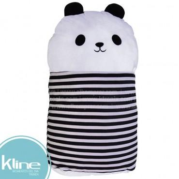 Cojín K-LINE infantil Panda en forma de Cilindro