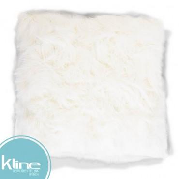 Cojín K-LINE Peludo Blanco 50x50 cm