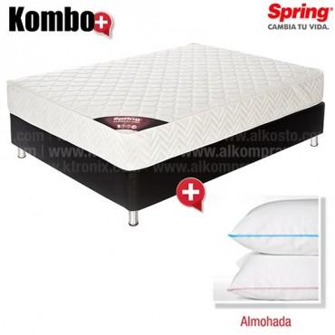 KOMBO: Colchón de Resorte SPRING Emotion New One 1 Sencillo GRATIS 1 Almohada
