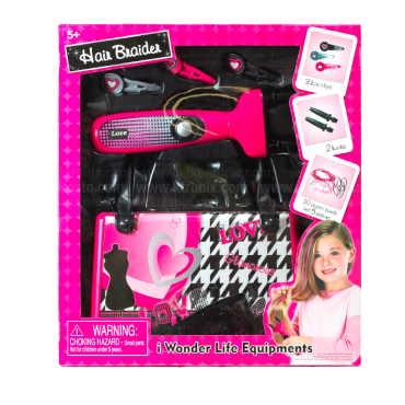 Juguete Set Belleza Wonder Life Equipments Hair Braider