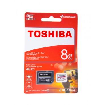 Memoria Micro SD TOSHIBA - 8Gb + Adaptador Cl10