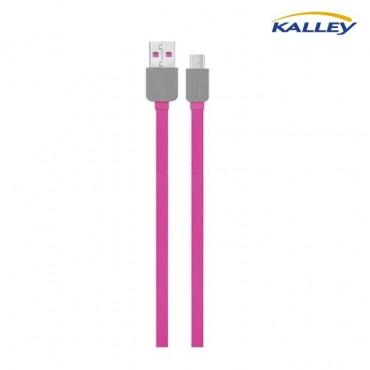 Cable USB/Micro USB Kalley Rojo 1 Metro
