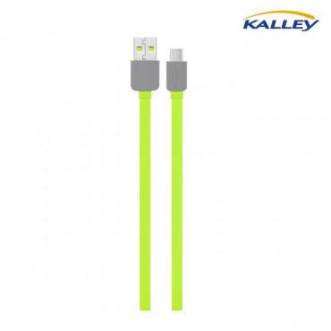 Cable USB/Micro USB Kalley Verde 1 Metro