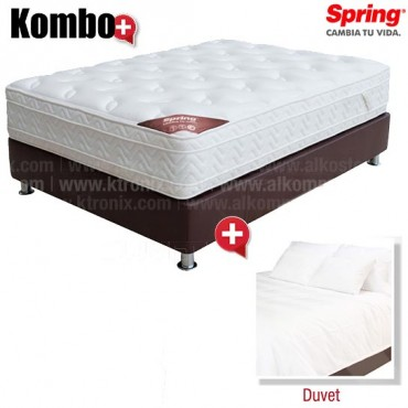 KOMBO: Colchón de Resorte SPRING Emotion C-7 + Duvet