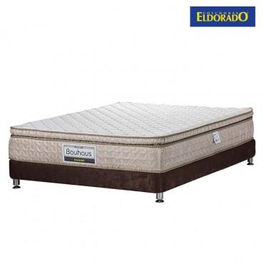 KOMBO ELDORADO:Colchón Extradoble Bauhaus 160x190 cms Espumado + Base Cama Nova