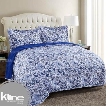 Edredón K-LINE Queen Coral Fleece Azul