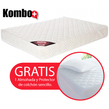 KOMBO: Colchón de Resorte SPRING Emotion New One Sencillo GRATIS Almohada y protector