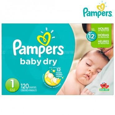 Pañal PAMPERS Baby Dry Etapa 1 Caja 120