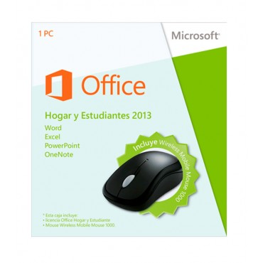 Office MICROSOFT Home 2013 + Mouse1000