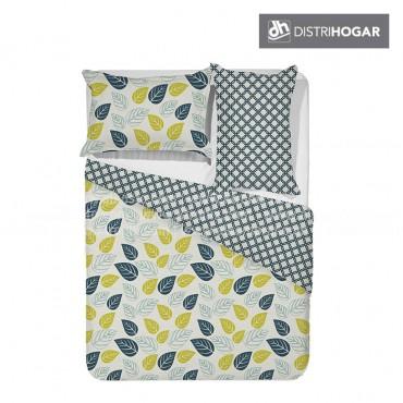 Comforter DISTRIHOGAR Estampado Extradoble LEAVES