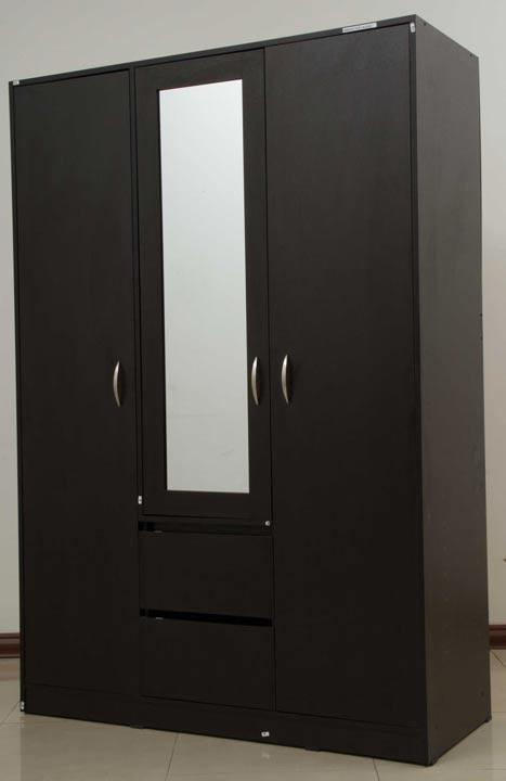 Closet espejo maderkit wengue for Modelos de zapateras en closet