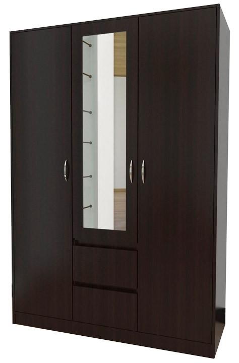 Closet espejo maderkit wengue for Disenos de roperos para dormitorios