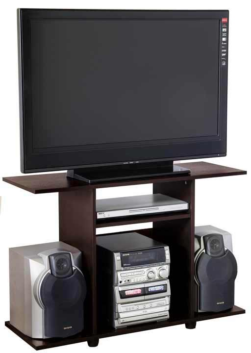 Mesa tv y sonido maderkit wengue for Mesas televisor plasma