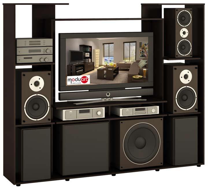 Centro de audio moduart l nea bilbao 19019 wengue for Diseno de muebles para equipos de sonido