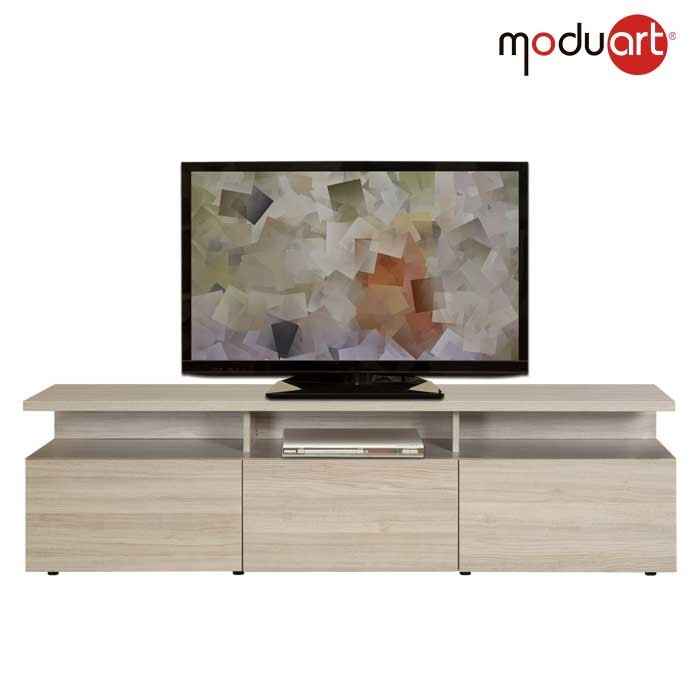 Mesa tv moduart l nea stylo latte - Mueble para el televisor ...