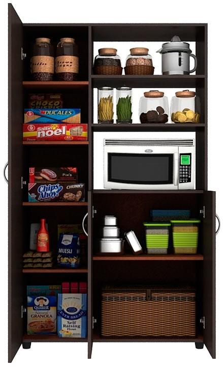 Mueble auxiliar cocina practimac pm2400874 wengue for Mesa auxiliar de cocina para microondas