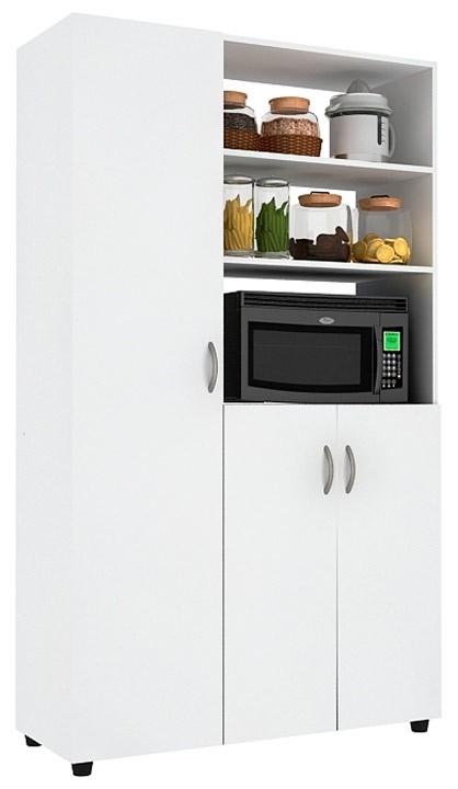 Mueble auxiliar cocina practimac pm2000874 nevado for Mueble auxiliar microondas