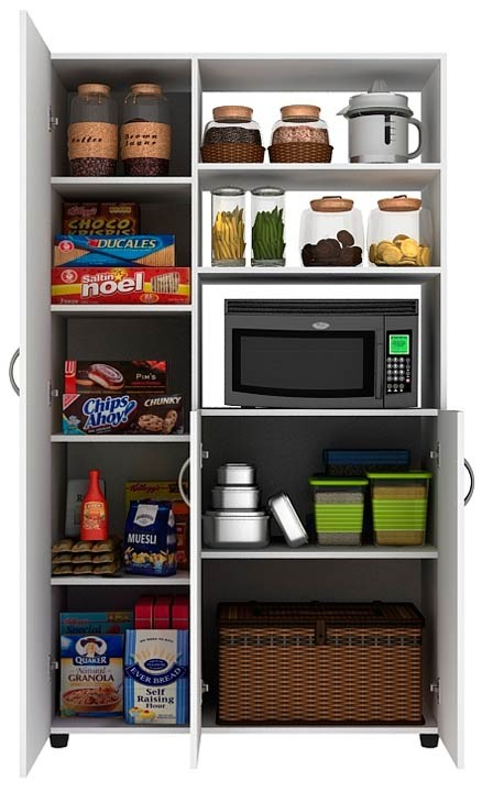 Mueble auxiliar cocina practimac pm2000874 nevado for Muebles auxiliares cocina baratos