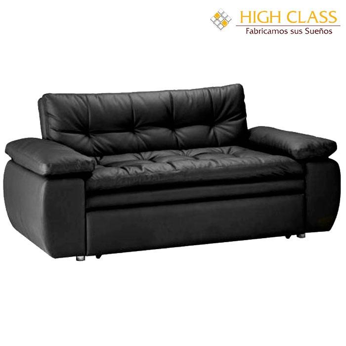 Sof cama high class car yoga negro for Sofa cama 190 ancho